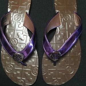 Tory Burch NEW Thora Sandals Purple Sz 7